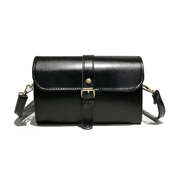 Boa qualidade 2019 Mulheres Bolsa de Couro Pu Mensageiro Sólidos Mulheres Sacos de Ombro Crossbody Marca Feminino Top Handle Handbag