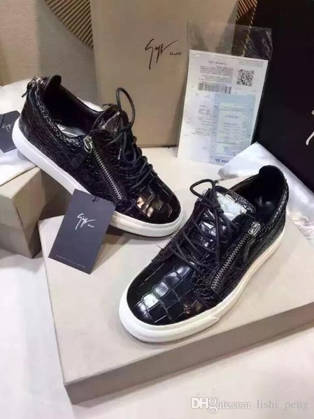 later best shoes wide varieties Giu eppe 13 zanotti 13 2019 fa hion couple ca ual hoe flat for men ...