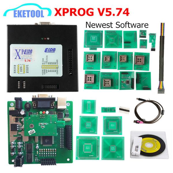 Professional Latest XPROG M V5 74 ECU Programmer Metal Box X PROG V5 74  Upgrade V5 60 EEPROM Programming For BMW CAS4 XPROG 5 74 Diagnostic Auto  Codes