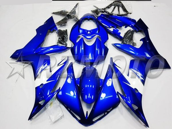 3Gifts New Fairings Kits Fit For Yamaha YZF 1000 R1 04 05 06 YZF-R1 2004 2005 2006 ABS Plastic Motorcycle Fairing set Cowling cool blue