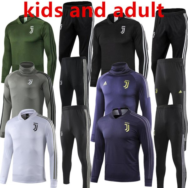 kids and adult Juventus soccer Tracksuit MARCHISIO RONALDO Track suits jacket 2018 2019 DYBALA HIGUAIN chandal training suits sports wear