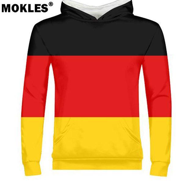 GERMANY male free custom diy name number deu pullover nation flag de country german bundesrepublik college print photo clothes