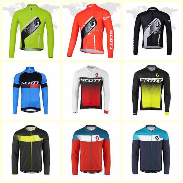 Команда SCOTT Велоспорт с длинными рукавами трикотаж высокого качества Ropa Ciclismo Дышащий Велосипед Одежда Quick-Dry Спортивная одежда U61335