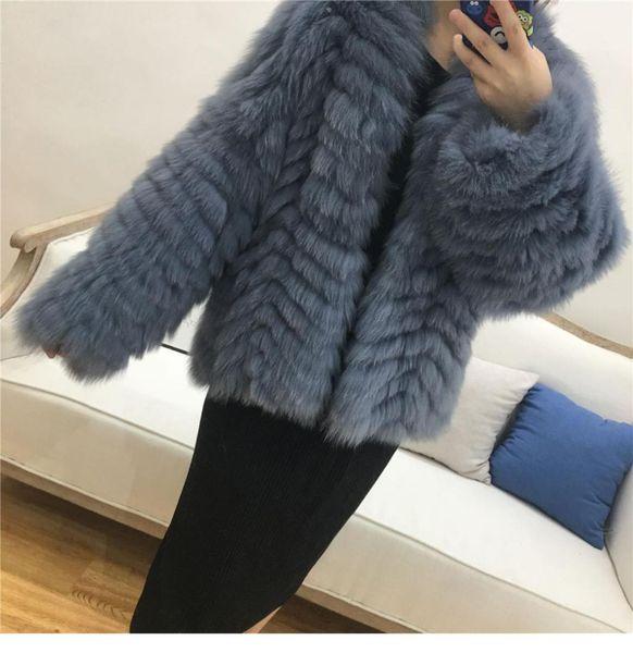 Abrigo de piel auténtica real natural abrigos de piel para mujer damas Mejor Abrigo Outwear Loose