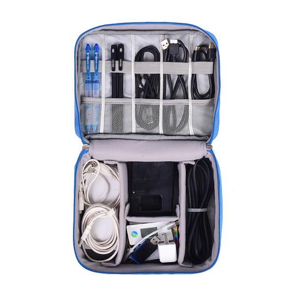 Su geçirmez Dijital Çanta Seyahat Usb Kablo Tote Sabit Disk Teller Vaka Güç Bankası Cep Telefonu Organizasyon Kılıfı Aksesuarları