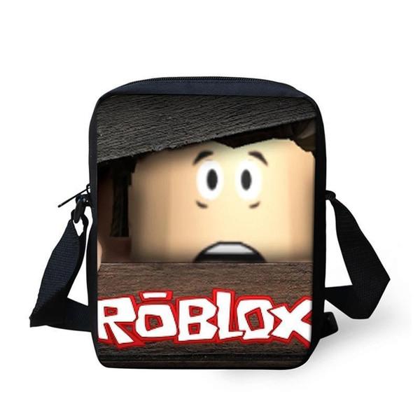 Cute Roblox Games School Bag Mini Children Messenger Bag 2D Printing Cross Body Kids School Supplies For Boys Girls Student