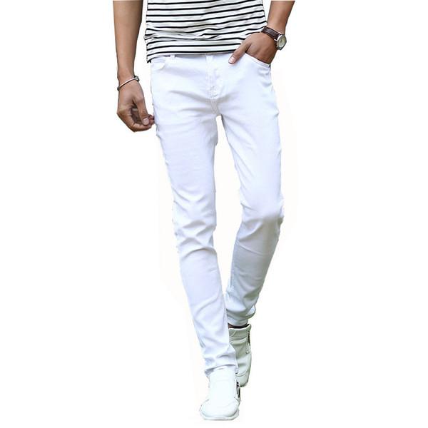 Mcikkny Fashion Men's Denim Jeans Pants Slim Fit Casual Denim Trousers Fashion Designer Biker Stretch Jean Joggers For Male
