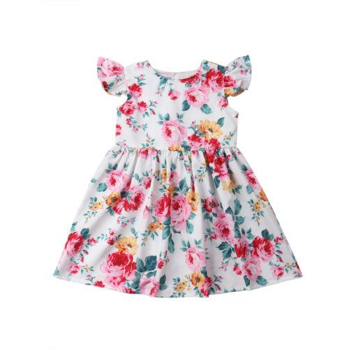 New Flowers Printed Baby Bibs Girls Kids Ruffle Sleeveless Cute Princess Casual Party Princess Outfit Dresses Children Clothing New Flowers Printed Baby Bibs Girls Kids Ruffle Sleeveless Cute Princess Casual Party Princess Outfit Dresses Children Clothing