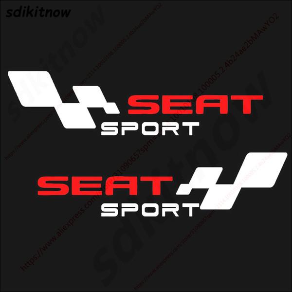 2pcs Spain Car Decal Body Windows Sports Racing PVC Sticker Styling For Seat Leon Ibiza Altea Cordoba Toledo Accessories