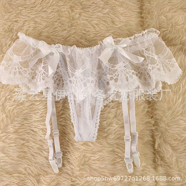 white -single suspender belt