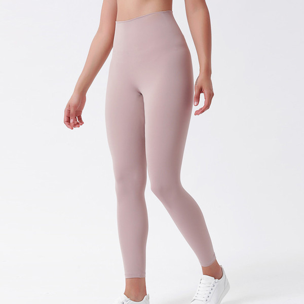 best selling Fitness Athletic Solid Yoga Pants Women Girls High Waist Running Yoga Outfits Ladies Sports Full Leggings Ladies Pants Workout