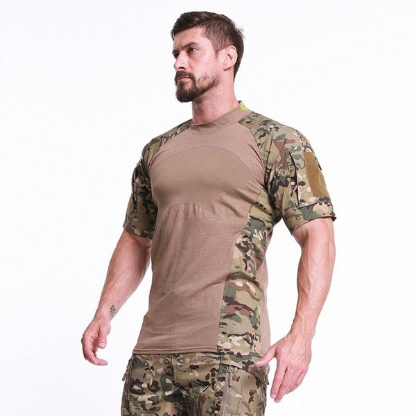 best selling Outdoor Summer Men's Camouflage Hiking T-shirt Sports Bottoming Breathable Quick-drying Comfortable Size M-2XL Camo Hiking Top q9Jq#