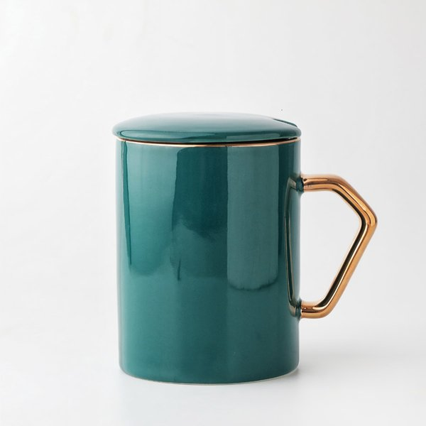 Una taza de color verde