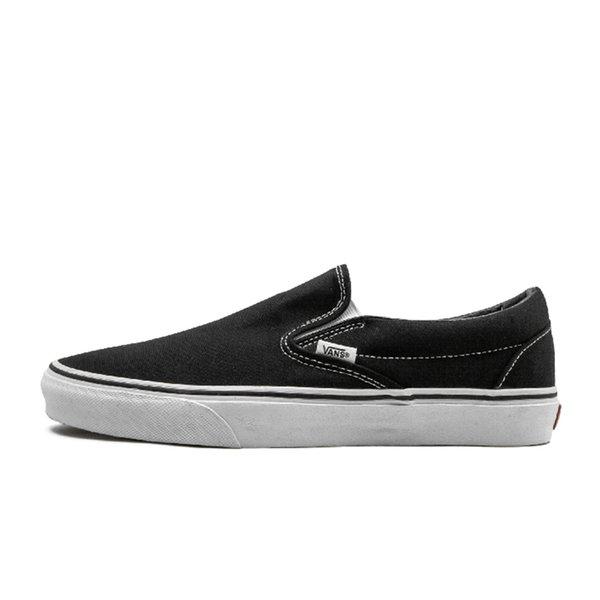 slip on black white