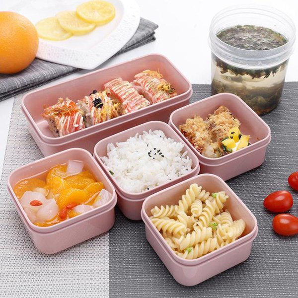 top popular MICCK 7-piece Set Lunch Eco-friendly Food Storage Container Microwavable Bento Leakproof Crisper Box T200710 2021