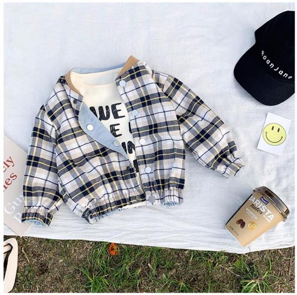 top popular Spring Autumn Boys wearing children's jackets on both sides Baby Clothes Children Clothing 2021
