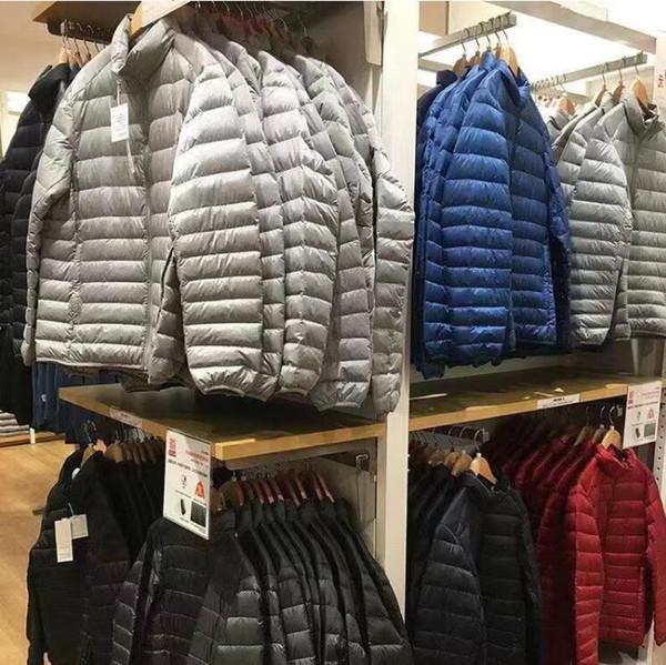 top popular New Winter Jackets 2020 Men Autumn Ultra-thin Warm Outwear Brand Slim Mens Coats Casual Windbreaker Quality Jackets Men M-4XL 2021