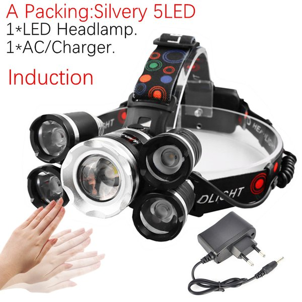 A Pack- Silvery 5LED No Battery