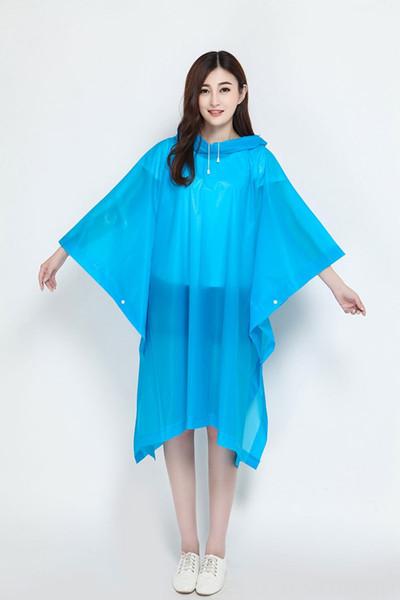 Blue Turtleneck Poncho-Length 130cm x Wi