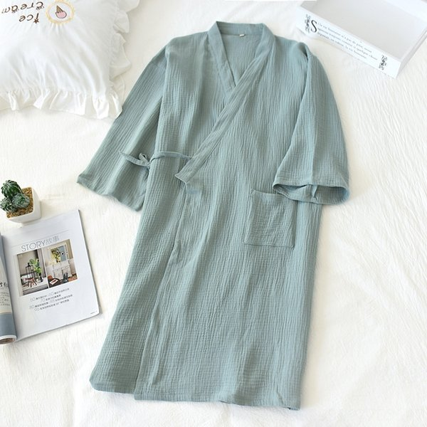 Mulheres # 039; s Pure Verde Crepe Nightgown