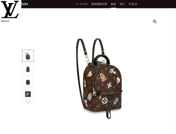 best selling Libobo4 M44367 19 Valentine's Day Floral Badge Palm Springs Mini Backpack Backpacks Business Bags Tote Messenger