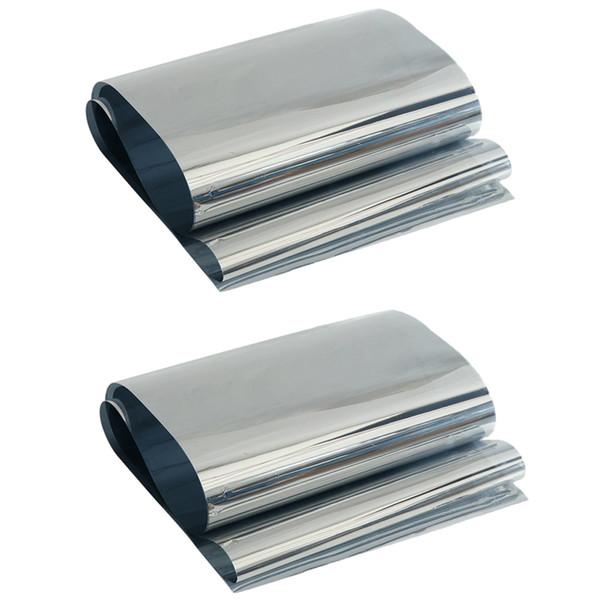 best selling 2 Pcs Mirror Window Film Privacy Control Window Solar Film Silver Grey