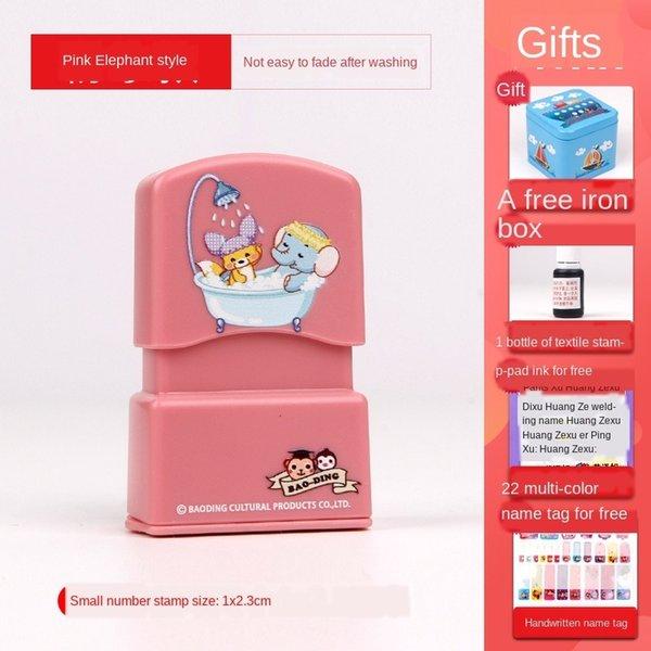 rosa Elefant (1x 2.3cm) Geschenktüte B