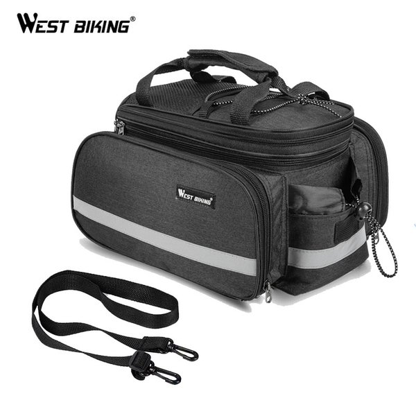 top popular WEST BIKING Bicycle Bag with Rain Cover 10-25L Cycling Mountain Bike Trunk Shoulder Bags Backpack Bike Rear Travel Luggage Bag MX200717 2021