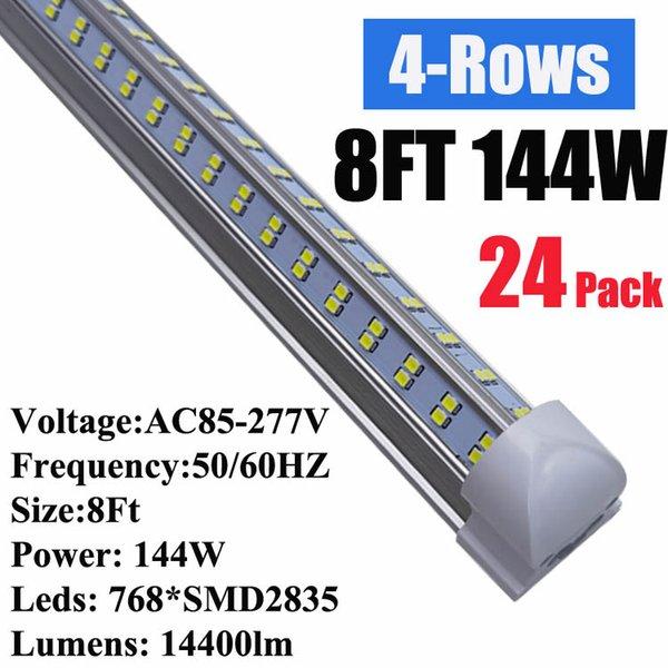 8Ft 144W V en forma de cubierta para el
