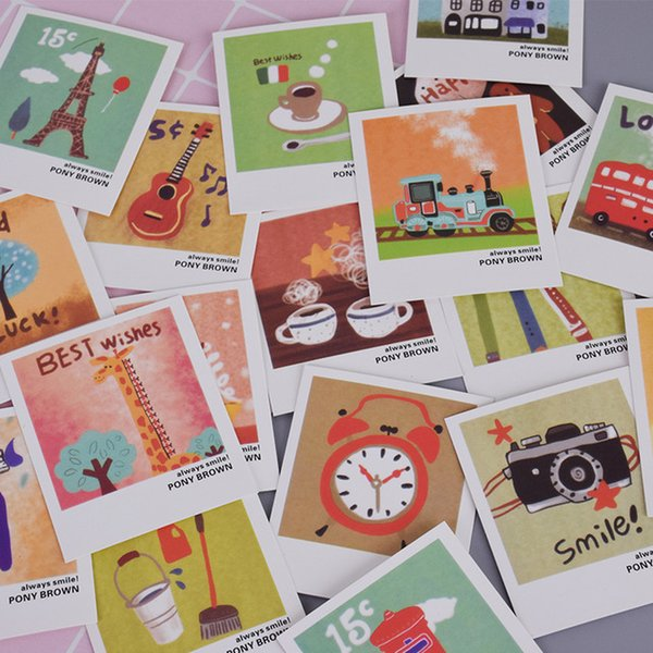 ducation & Office Supplies 40 pcs/lot Vintage locomotive cartoon animals mini Lomo Greeting Card Postcard Birthday Letter Envelope Gift ...