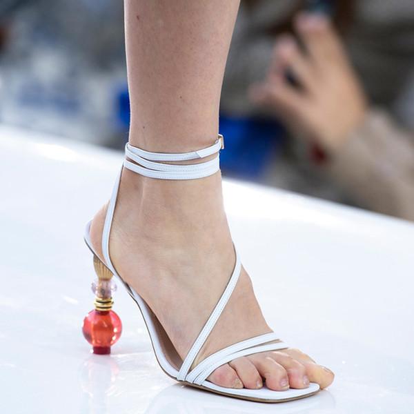sandálias peep toe branco