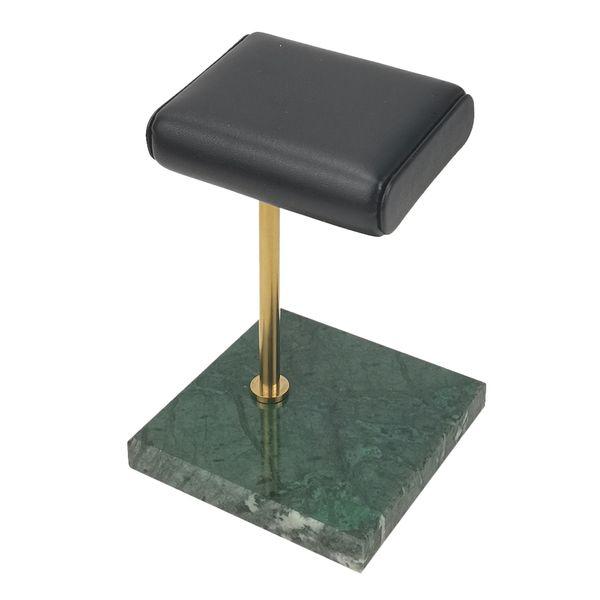 Yeşil Mermer Baz + Altın Standı