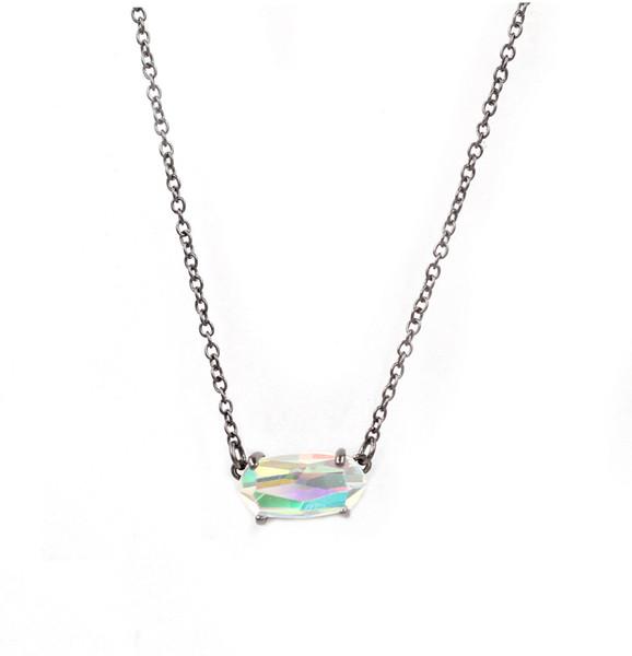 5Black ab necklace