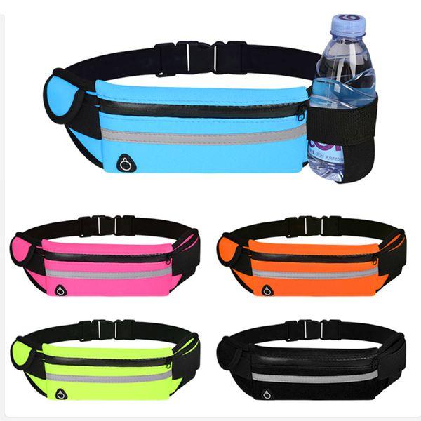best selling Waist Bag Belt Running Waist Bag Sports Portable Gym Bag Hold Water Cycling Phone Belt Waterproof Women running belt Fanny and Waist Pack