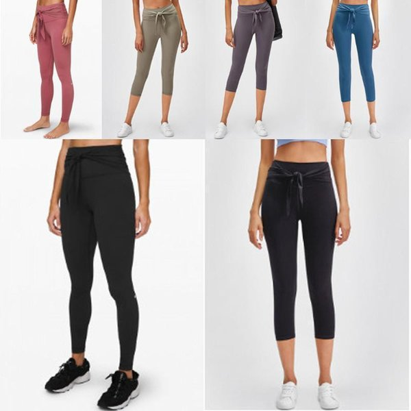 top popular Hot [TOP Quality] newest Solid Color womens yoga pants High Waist Sports Wear leggings Elastic Fitness yogaworld overall tights workou cade# 2020