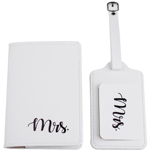 White(Mrs passport+luggage tag)