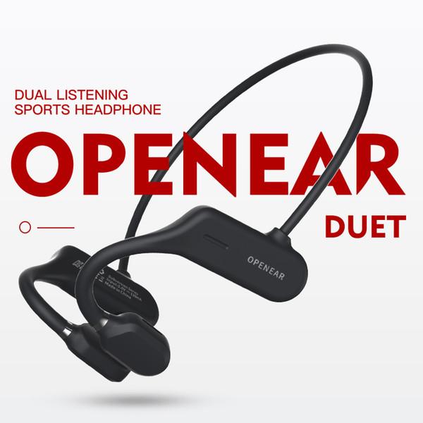 best selling Bluetooth 5.0 Ear Hook Headphones AS3 Wireless Bone Conduction Headset w Mic for Handsfree Calling IPX5 Waterproof Earphones