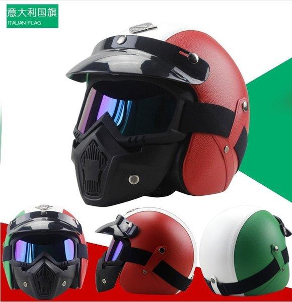 italiana bandiera casco + maschera