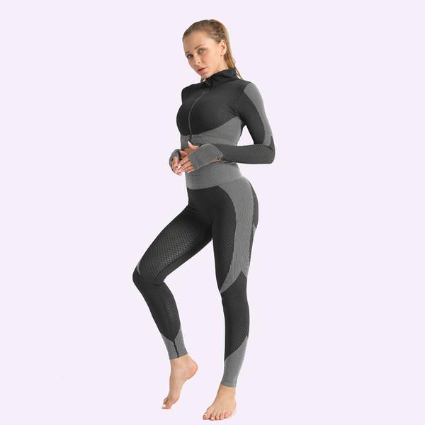 Black-2pcs coat-leggings