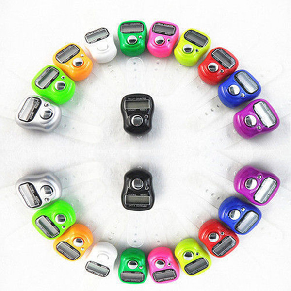 top popular DHL FEDEX Free Shipping 1000pcs Mini Hand Hold Band Tally Counter LCD Digital Screen Finger Ring Electronic Head Count Tasbeeh Tasbih 2020