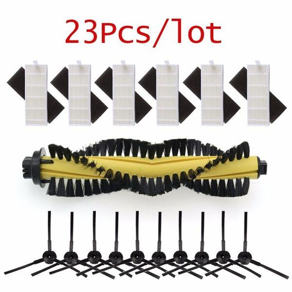 Ome-Appliance-Staubsauger-Teile 1 * Pinsel 6 * HEPA-Filter 6 * Schwamm 10 * Seitenbürste für Ilife Roboter Staubsauger Teile Polaris Chuwi ilife ...
