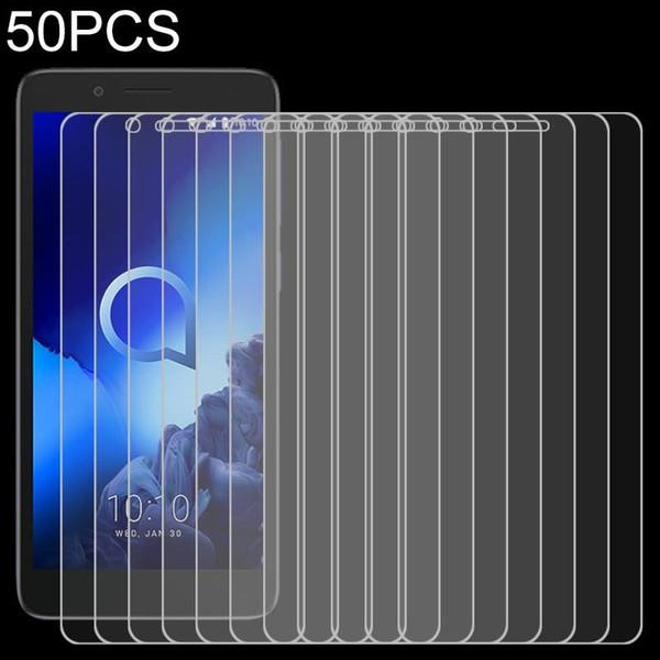 50 PCS para a Alcatel 1C 2.5D Non-Full Scre