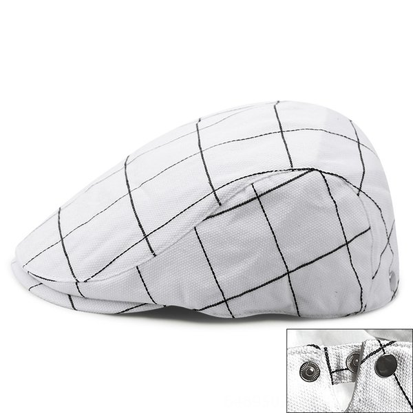 plaid-White-Adjustable for 56-59cm head