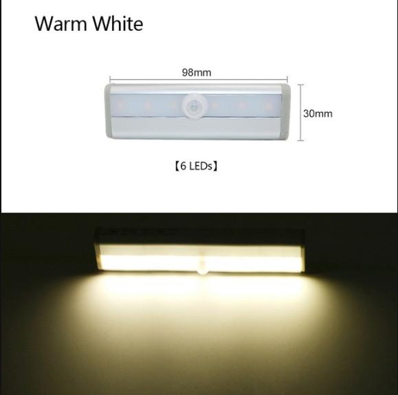 6 leds Warm white