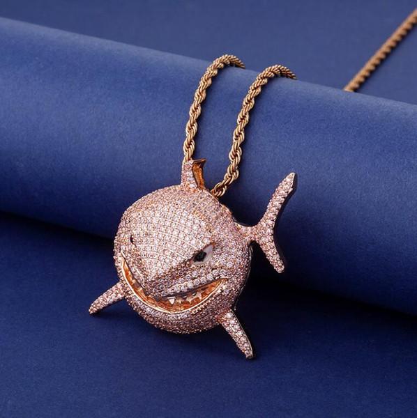 Розовое золото + Rope цепь