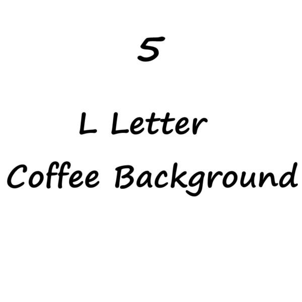 L letra Café Background-5