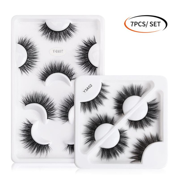 3/4/7 pairs 3d mink lashes natural long false eyelashes volume fake lashes makeup extension eyelash maquiagem