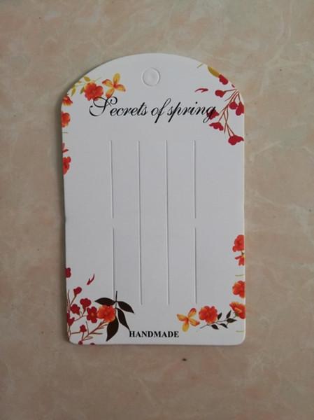 100 yaprak saç tokası kağıt kartları