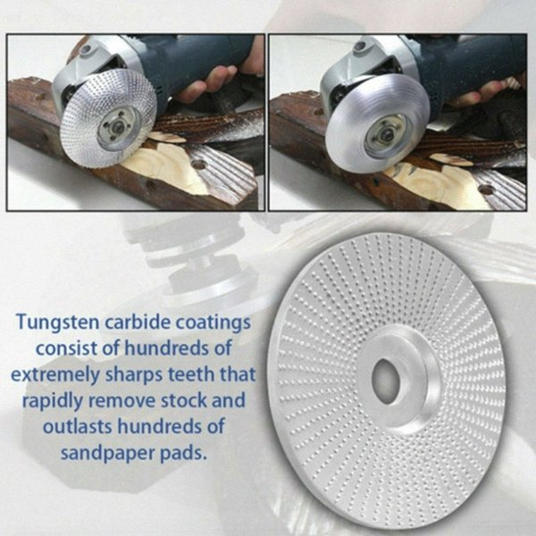 top popular Wood 2019 Tungsten Carbide Grinding Wheel Sanding Carving Tool Abrasive Disc for Angle Grinder PmGH# 2021