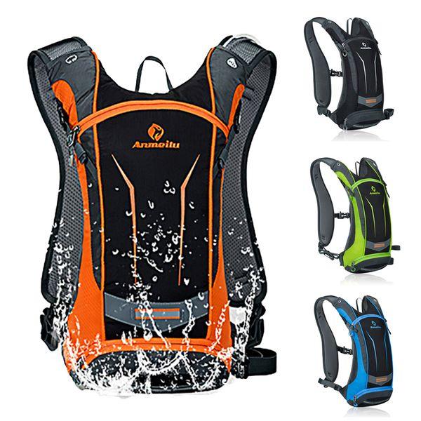 top popular Waterproof Bicycle Backpack,8L MTB Bike cycling Bag,Outdoor Hiking Trekking Cycling water Hydration Backpack,No water bag MX200717 2021